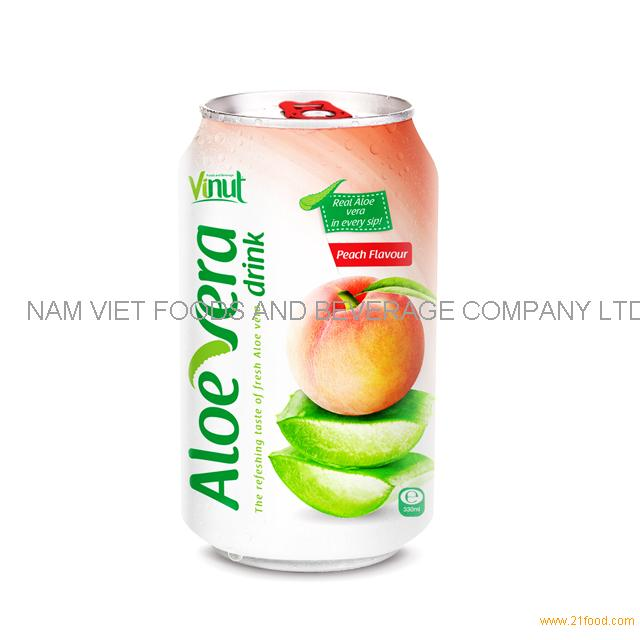 330ml Cans Original taste Aloe vera drink with Peach natural flavour(pack of 24)