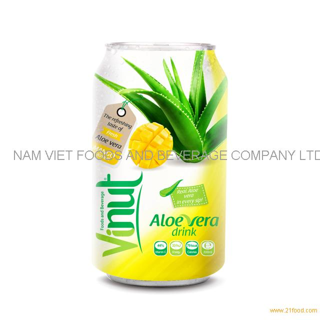 Cans Fresh Aloe vera drink with Mango Juice 330ml (Pack of 24)