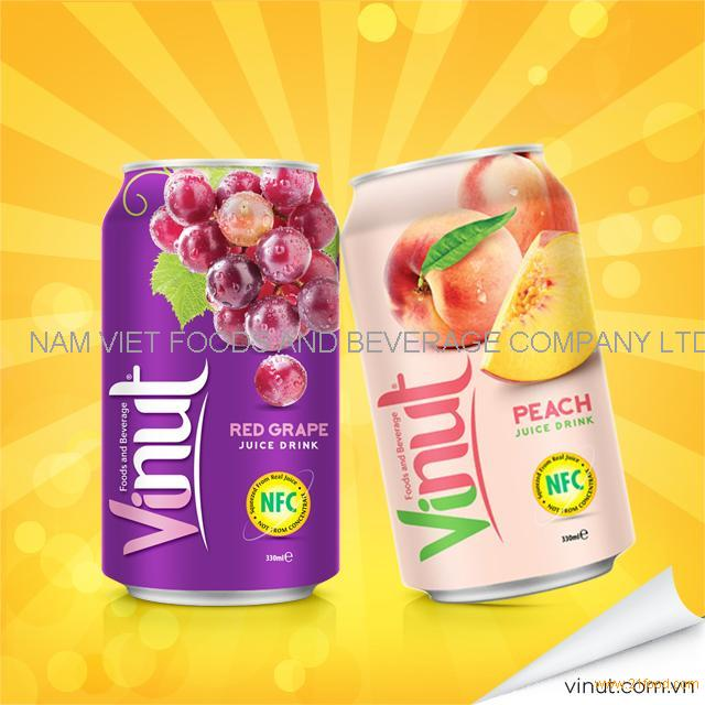 Wholesale New product Healthy 100% grape juice in 300ml tin can