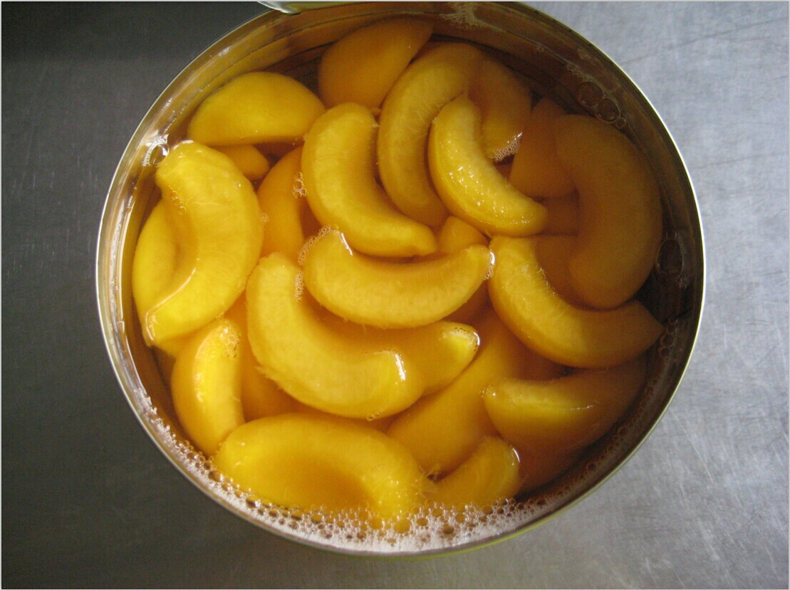 3000g canned yellow peach slices top quality for sale
