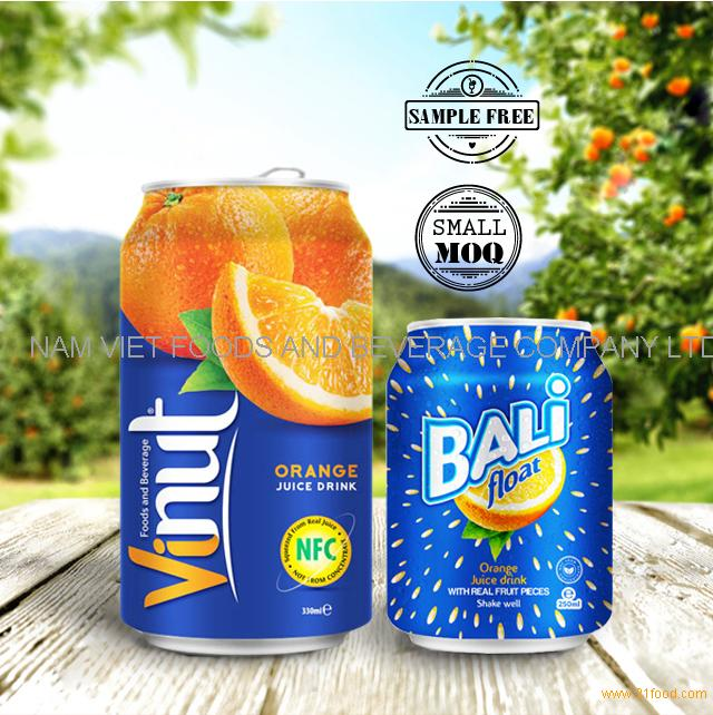 New product Healthy 30% orange juice in 325ml tin can
