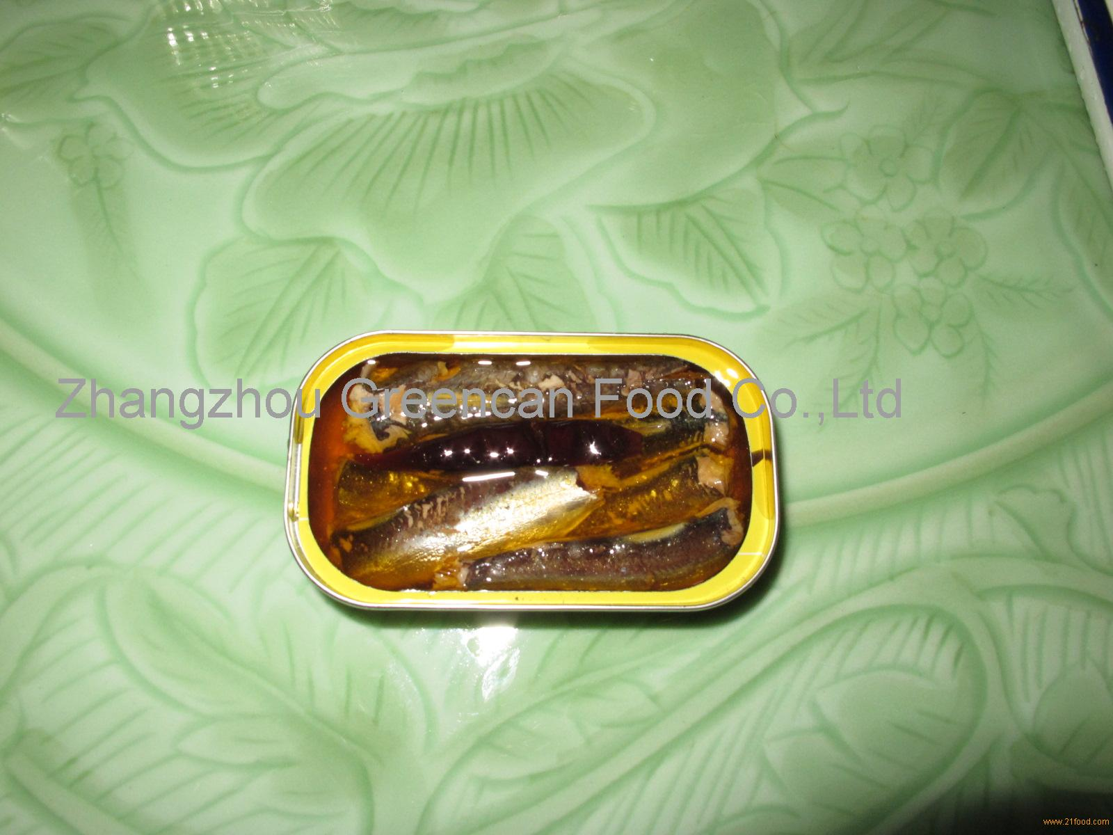 Canned sardine in oil Preservation Instant food