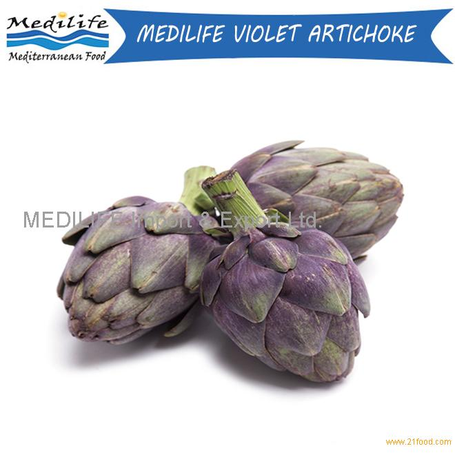 Artichoke. Mediterranean Fresh Violet Artichoke