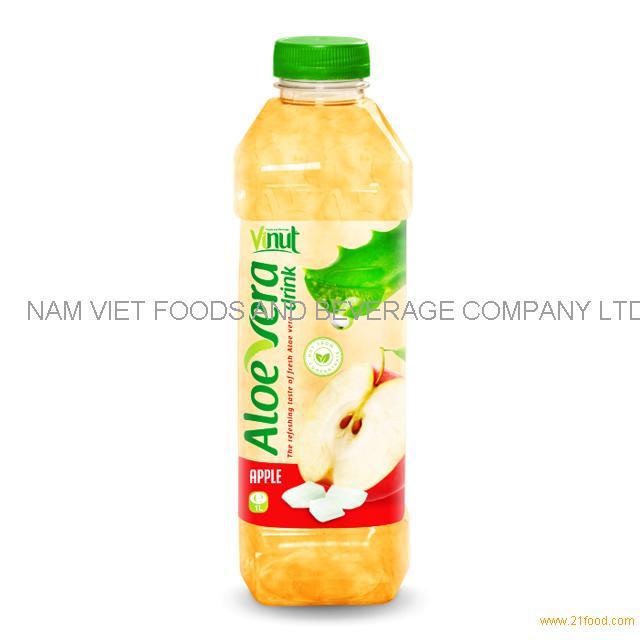 1L Bottle Premium Aloe Vera Drink with Apple juice