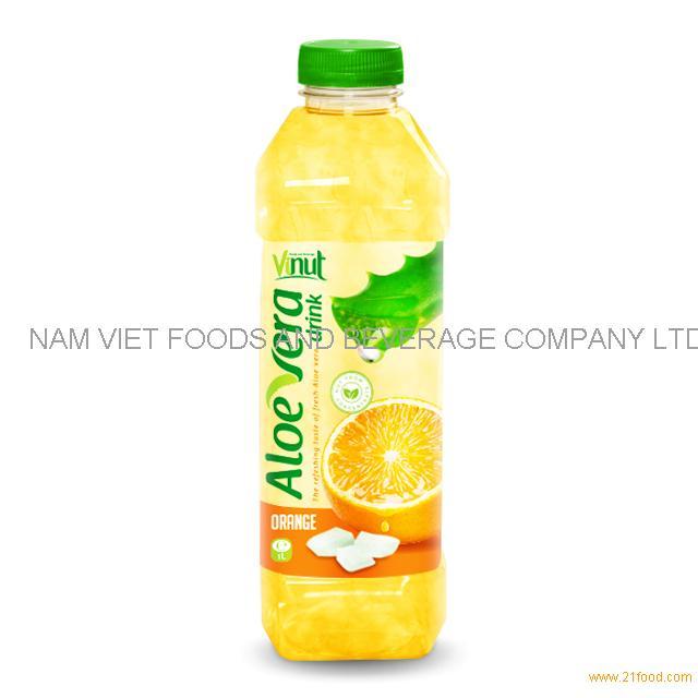 1L Bottle Premium Aloe Vera Drink with Orange juice