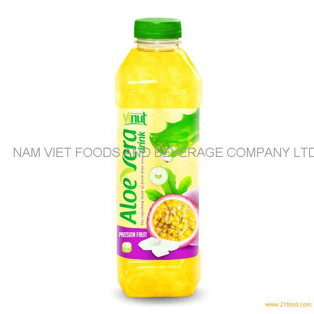 1L Bottle Premium Aloe Vera Drink with Passion Fruit juice
