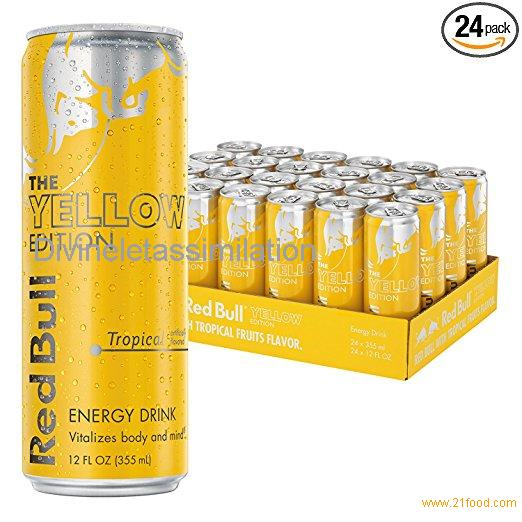 Red Bull Yellow Edition, Tropical Energy Drink, 12 Fl Oz Cans, 24 Pack