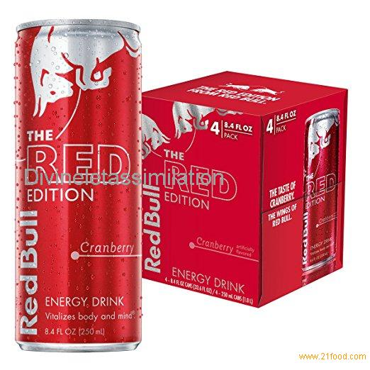 Red Bull Red Edition, Cranberry Energy Drink, 4pk, 8.4 oz Cans