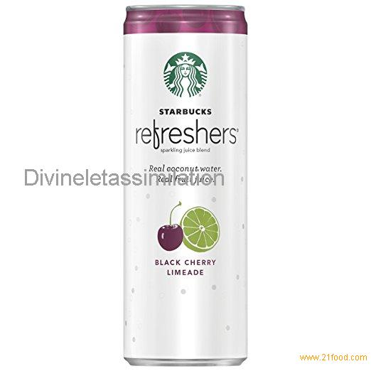 Starbucks Refreshers, Black Cherry Limeade with Coconut Water