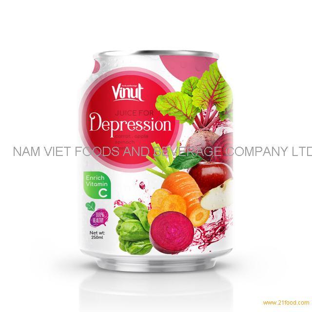 250ml Can 100% Vegetable Juice - Juice for Diabetes