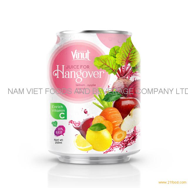 250ml Can 100% Vegetable Juice - Juice for Hangover