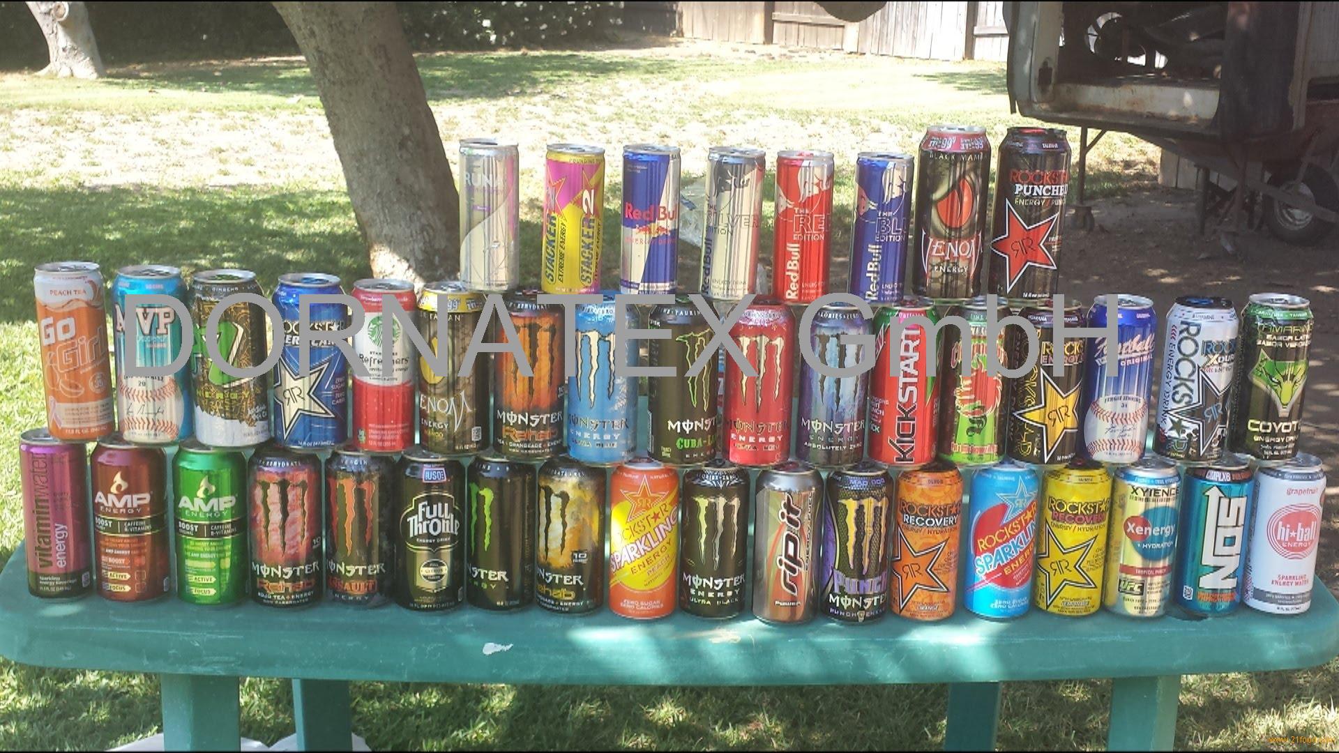 -Energy -Drinks- (Boost, Emergence, Lucozade,Monster, Redbull)