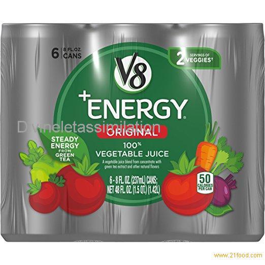 V8 +Energy, 100% Vegetable Juice