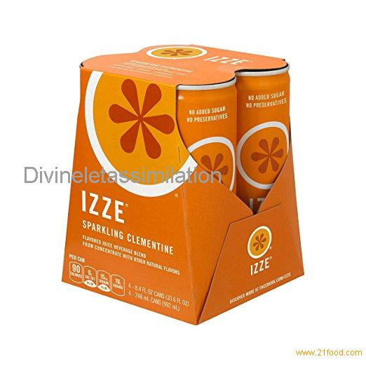 IZZE Sparkling Juice, Clementine,