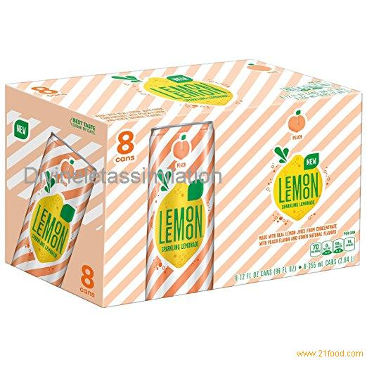 LEMON LEMON Sparkling Lemonade, Peach