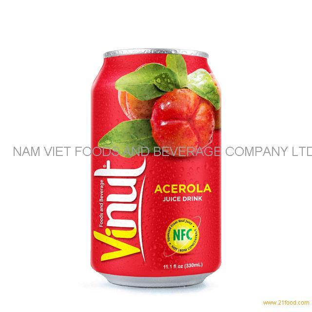330ml Canned Acerola juice drink