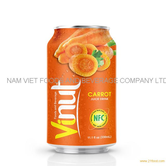 330ml Canned Carrot juice drink