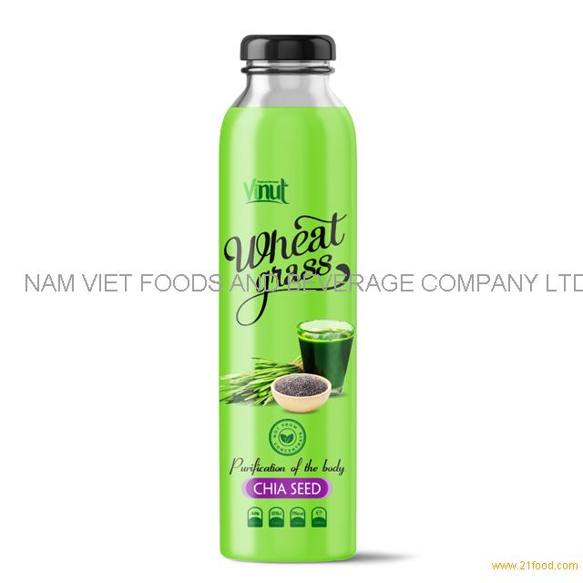 300ml Bottle Wheatgrass juice with Honey flavour