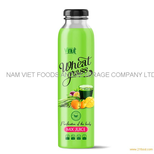 300ml Bottle Wheatgrass juice with Mix Juice flavour