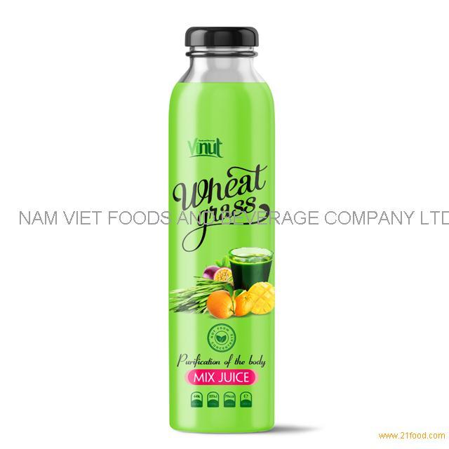 300ml Bottle Wheatgrass juice with Mix Juice flavour