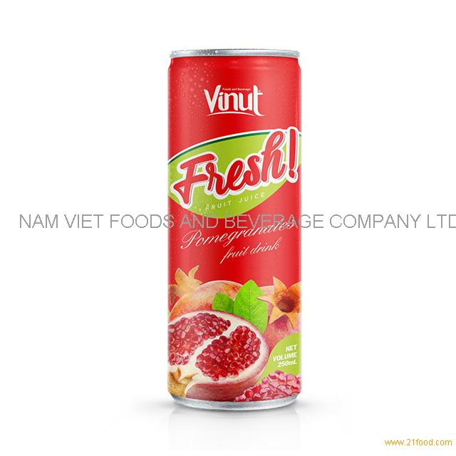 250ml Can Pomegranate Juice Drink