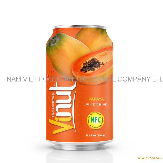 330ml Canned Papaya juice drink