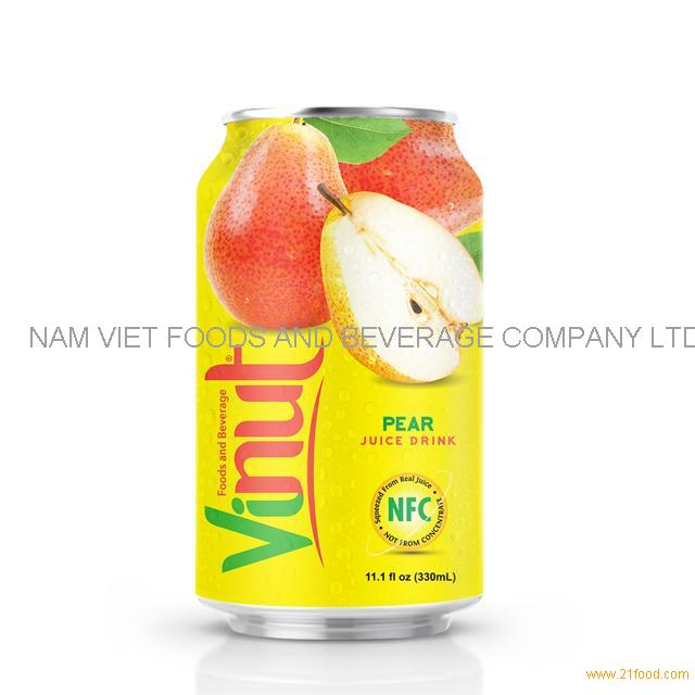 330ml Canned Pear juice drink