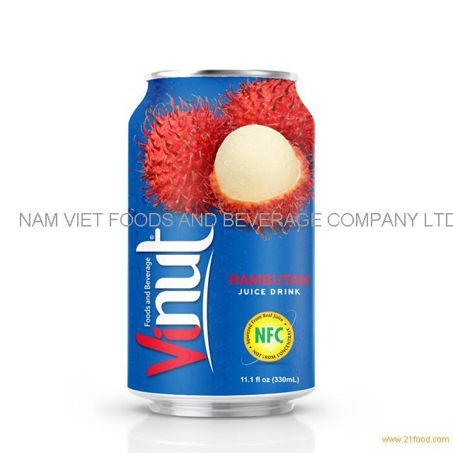 330ml Canned Rambutan juice drink