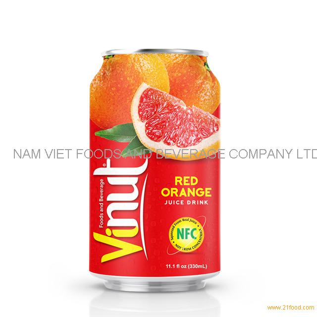 330ml Canned Red Orange juice drink