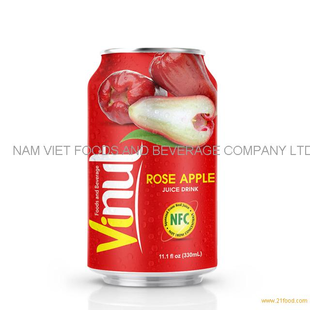330ml Canned Rose Apple juice drink