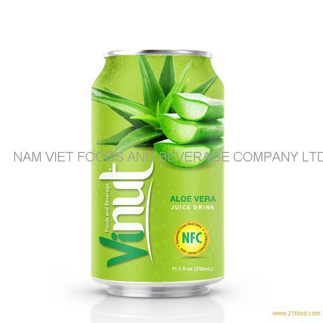 330ml Canned Aloe vera juice drink