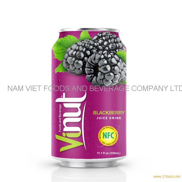 330ml Canned Blackberry juice drink