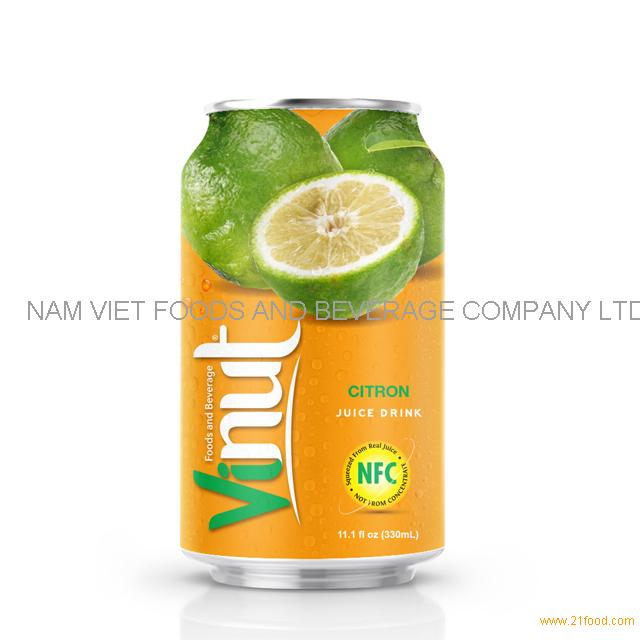 330ml Canned Citron juice drink