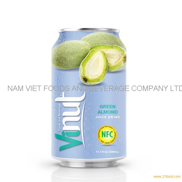 330ml Canned Green Almond juice drink