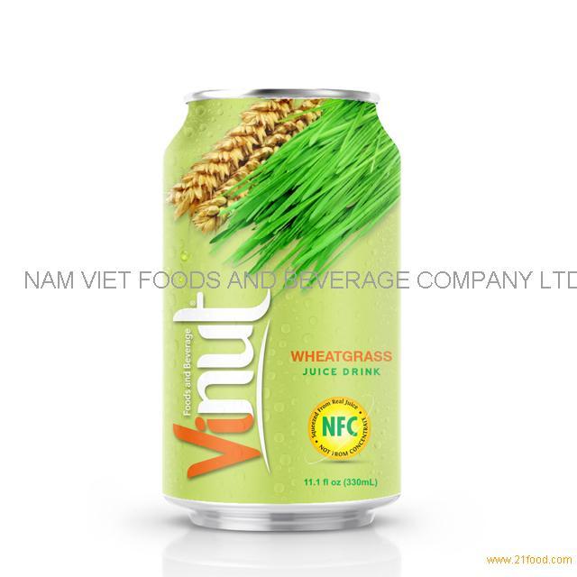 330ml Canned Wheatgrass juice drink
