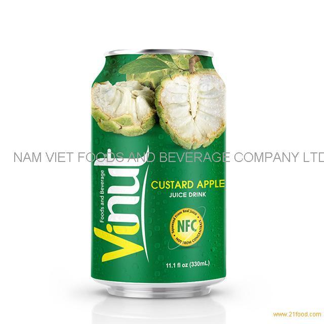 330ml Canned Custard Apple juice drink