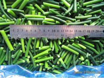 Frozen Vegetables of Green Garlic Sprout
