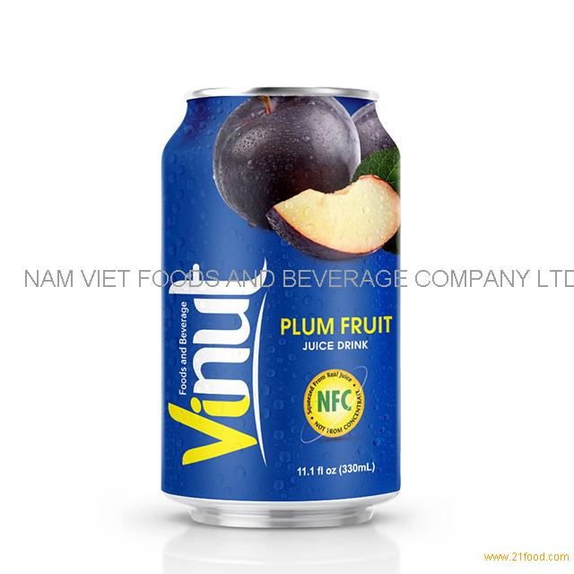 330ml Canned Plum Fruit juice drink
