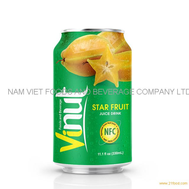 330ml Canned Star Fruit juice drink