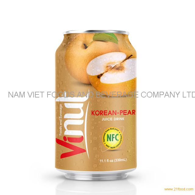 330ml Canned Korean-pear juice drink