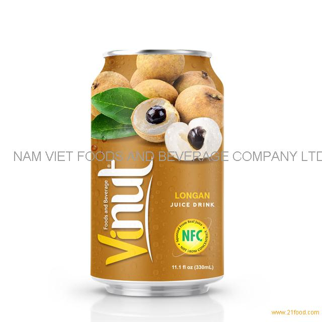 330ml Canned Longan juice drink
