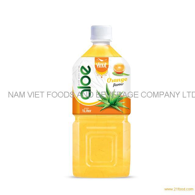 1L Premium Bottle Aloe Vera Drink Orange flavor