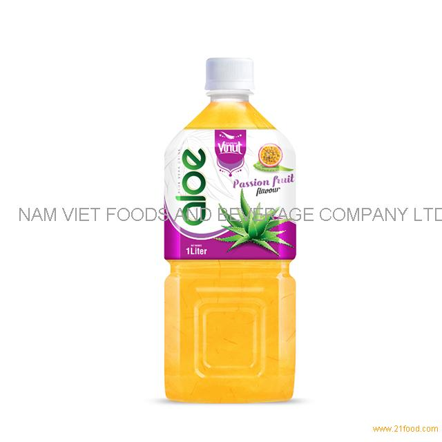 1L Premium Bottle Aloe Vera Drink Passion fruit flavor