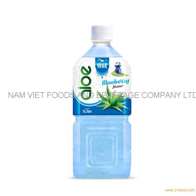 1L Premium Bottle Aloe Vera Drink Blueberry flavor