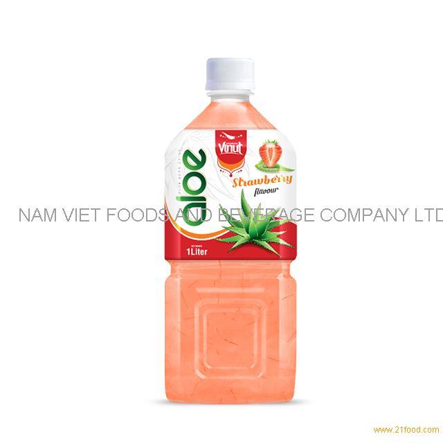 1LPremium Bottle Aloe Vera Drink Strawberry flavor