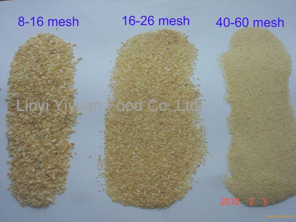 air dried garlic granules