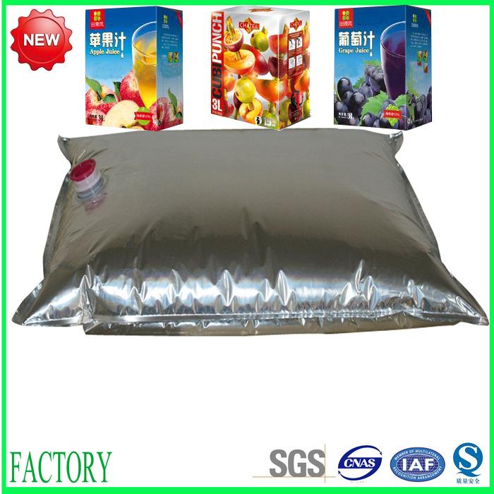 NEW 220L aseptic aluminum foil plastic bag in box for tomato paste/juice