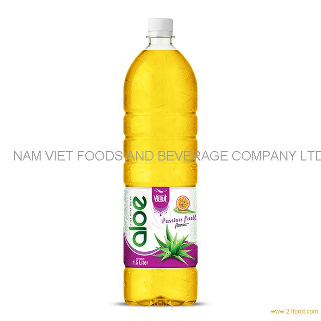 1,5L Bottle Aloe Vera Drink Premium Passion fruit flavor