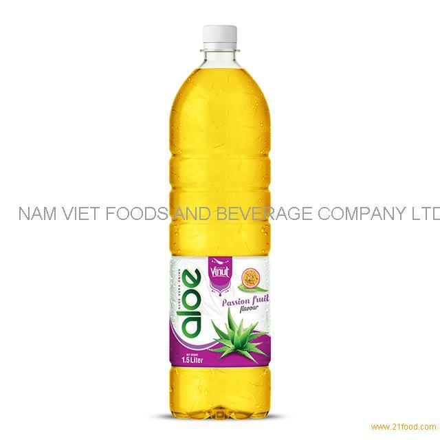 1,5L Bottle Aloe Vera Drink Premium Passion fruit flavor