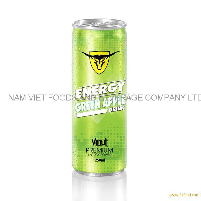 250ml Premium Energy Drink Green Apple